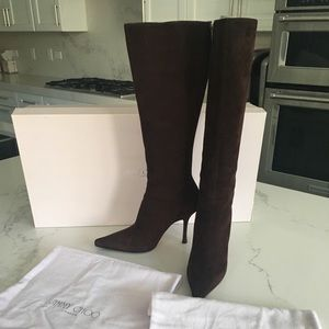 Jimmy Choo chocolate suede boots